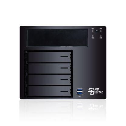 Hình ảnh Sans Digital AAN4L+BBKU - 64bit 4 Bay Backup Appliance Dual Gigabit NAS Server - Black (AN4L+BBKU)