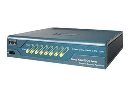 Picture of Cisco ASA 5505 Appliance with SW, 10 Users, 8 ports, 3DES/AES (ASA5505-BUN-K9)